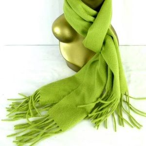 Nordstrom Cashmere Scarf Kelly Green